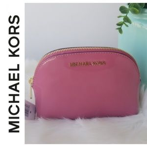 Michael Kors Pink Patent Leather Cosmetic Bag